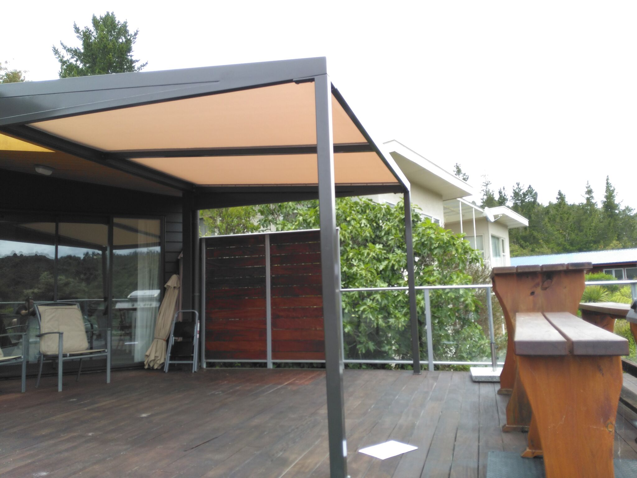 for roof awnings adjustable deck up gazebo pop shade with trellis extendable replacement wood best retractable decks pergola closed on ideas size canopy of awning cloth full design